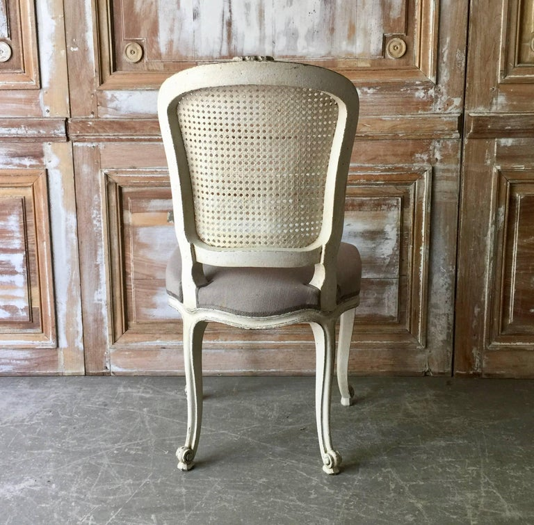 Set of Eight French LXV Style Chairs with Cane Back 6