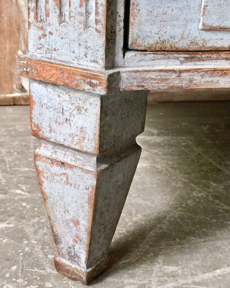 Bronze 19th Century Swedish Gustavian Chest of Drawers For Sale