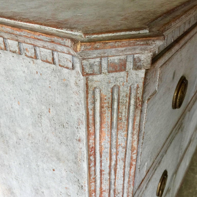 19th Century Swedish Gustavian Chest of Drawers In Good Condition For Sale In Charleston, SC