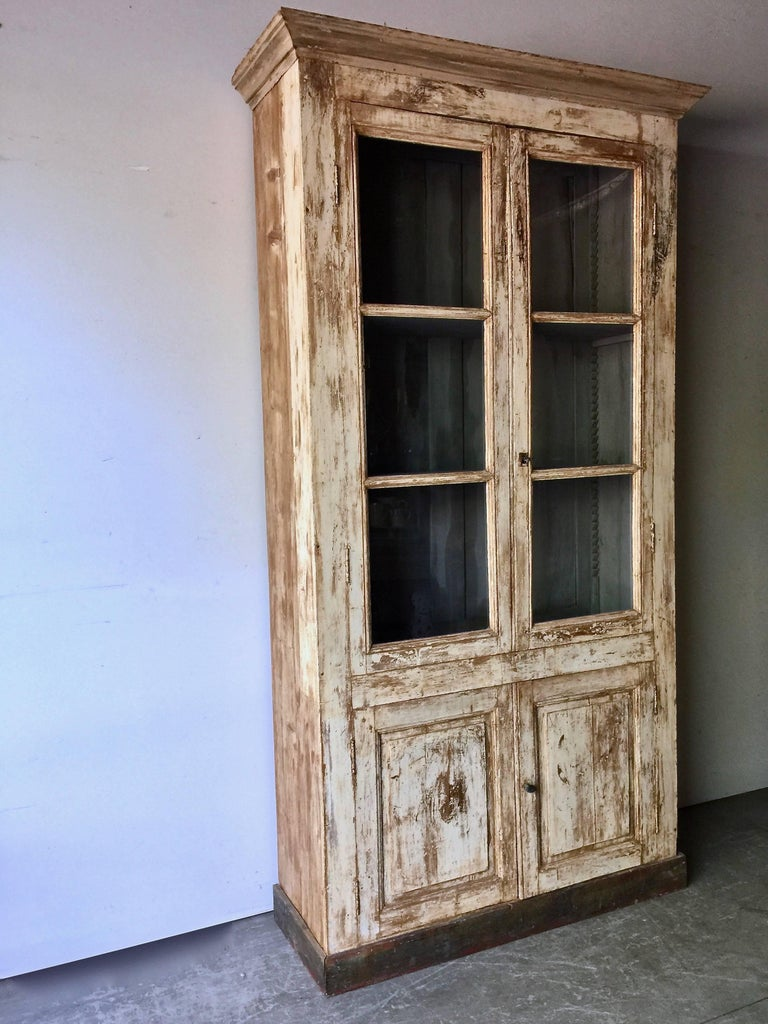 painted french biblioth que in original paint circa 1880 at 1stdibs. Black Bedroom Furniture Sets. Home Design Ideas