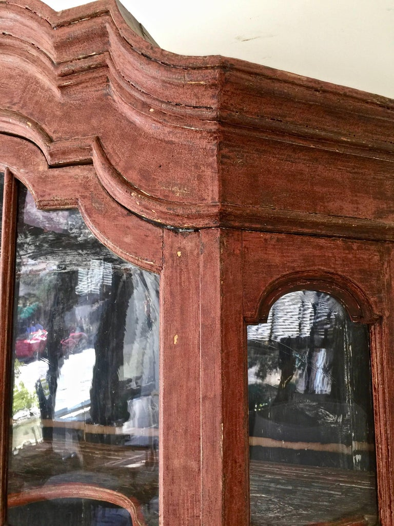 Oak 18th Century Dutch Vitrine Cabinet For Sale