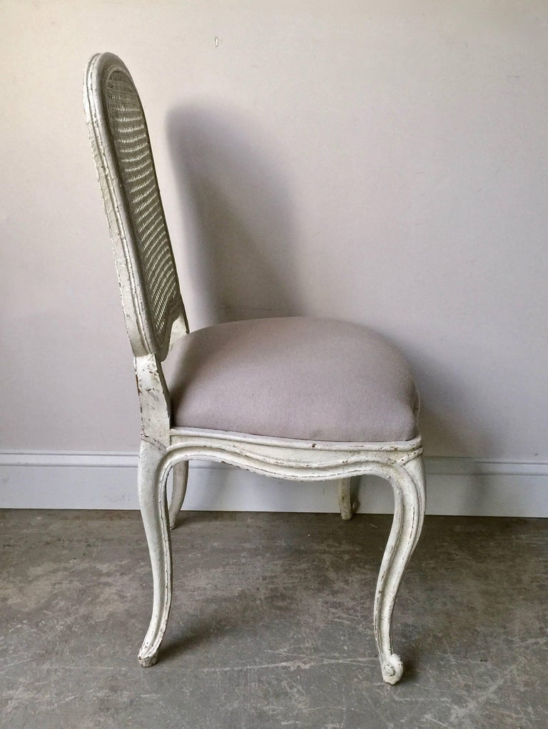 Set of Six, 19th Century French Louis XV Style Chairs with Cane Back In Good Condition For Sale In Charleston, SC