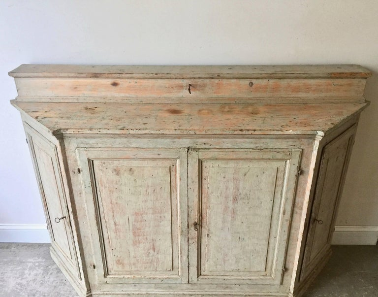 Hand-Crafted 18th Century Italian Credenza For Sale