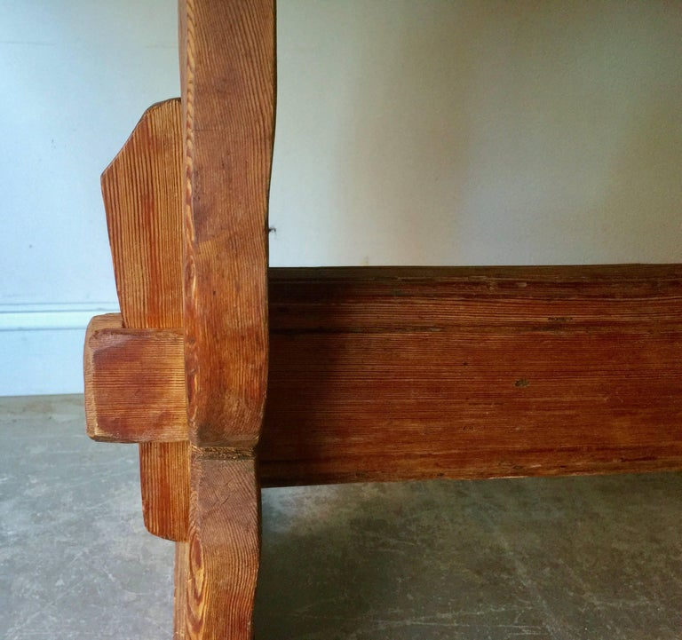 Large Early 19th Century Swedish Trestle Table For Sale 1