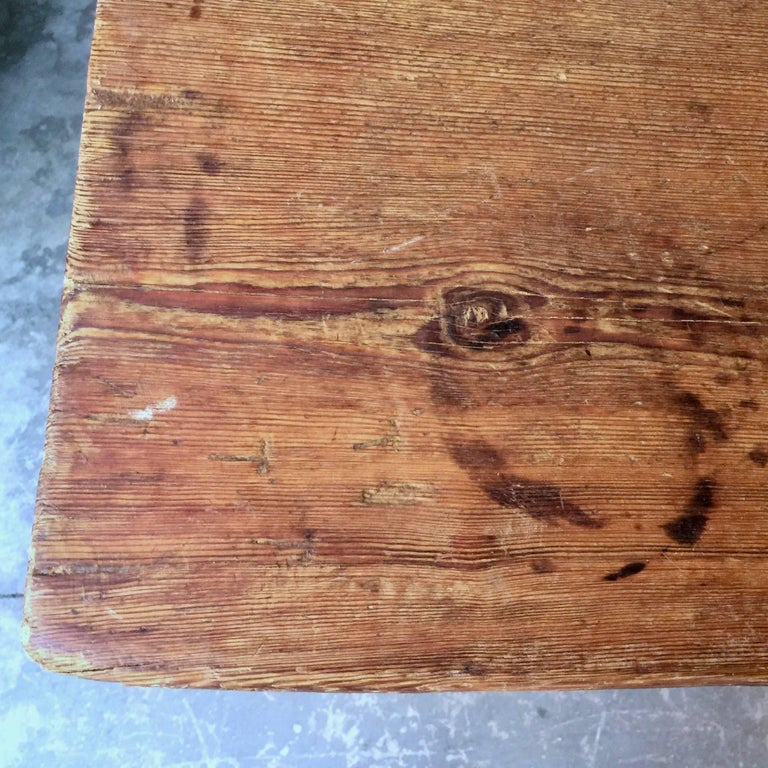 Large Early 19th Century Swedish Trestle Table In Good Condition For Sale In Charleston, SC