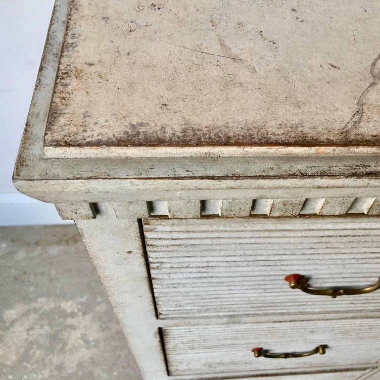 Hand-Carved Gustavian Period Chest of Drawers For Sale