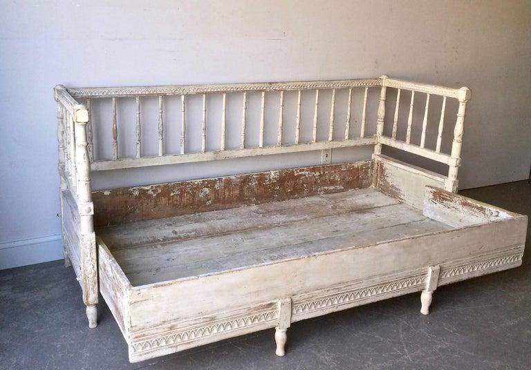 Swedish 19th Century Gustavian Sofa Bed For Sale