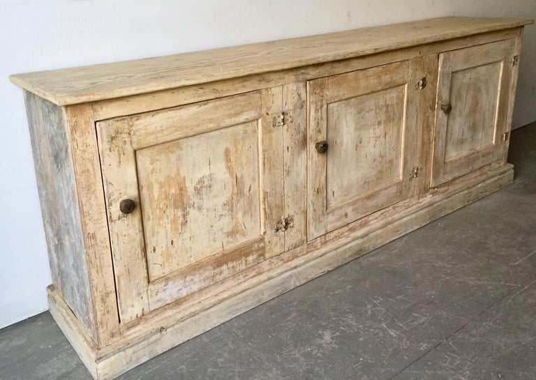 Hand-Crafted 19th Century Italian Painted Sideboard For Sale