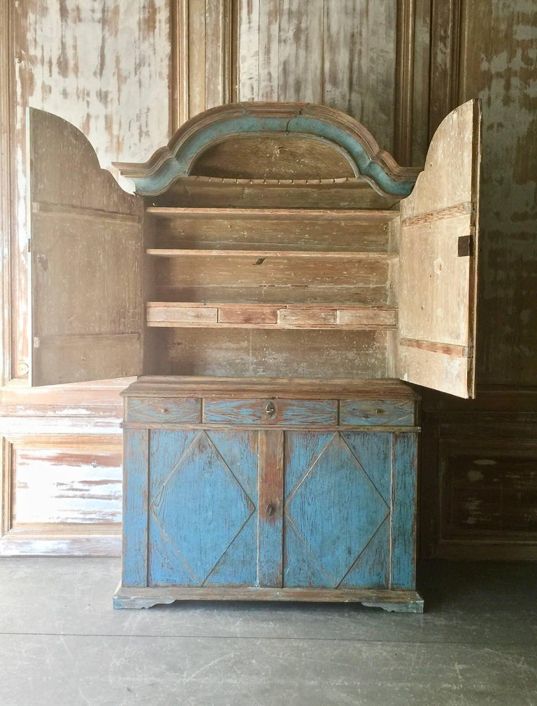 Swedish 18th Century Rococo Period Cabinet For Sale