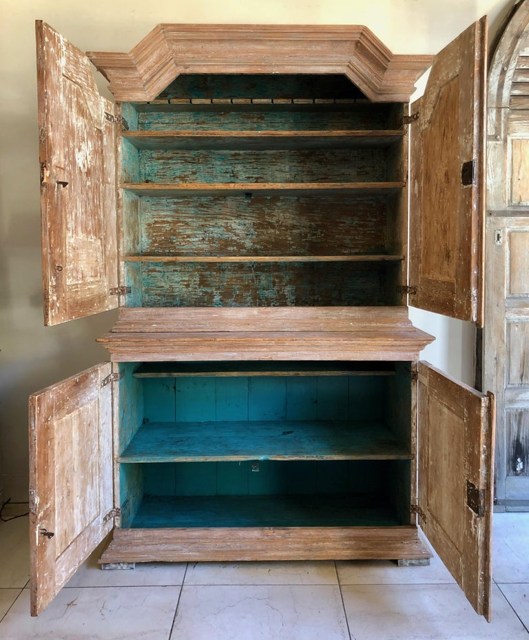 Hand-Carved 18th Century Swedish Gustavian Period Cabinet For Sale