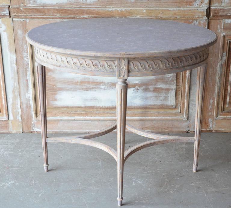 Swedish Gustavian Style Oval Table at 1stdibs : DSC8623l from www.1stdibs.com size 768 x 691 jpeg 69kB