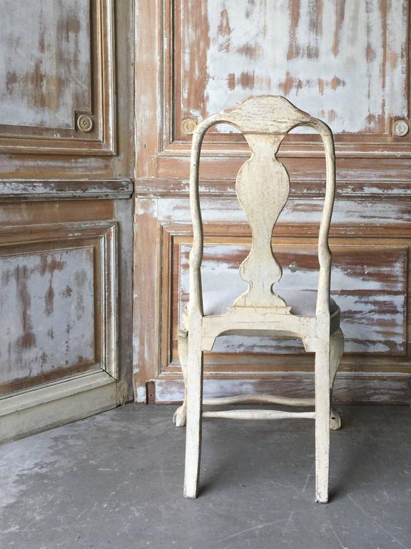 Rococo 18th Century Period Swedish Chair For Sale