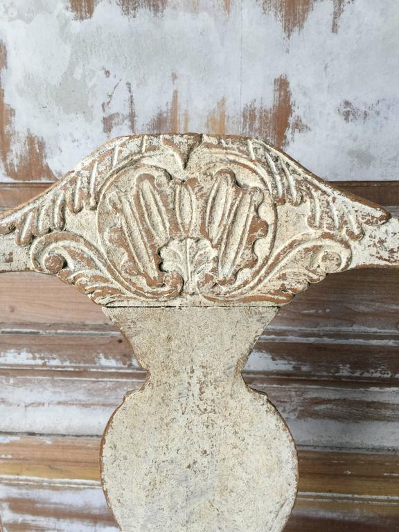 Hand-Carved 18th Century Period Swedish Chair For Sale