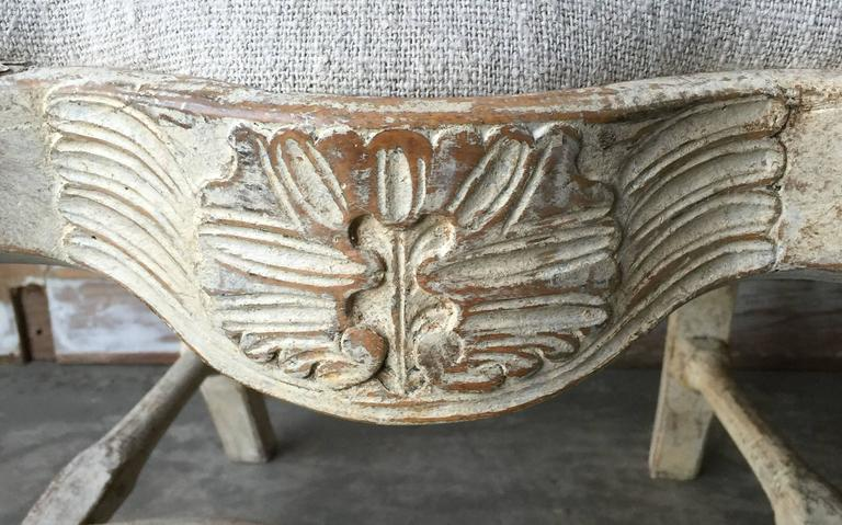 Pine 18th Century Period Swedish Chair For Sale