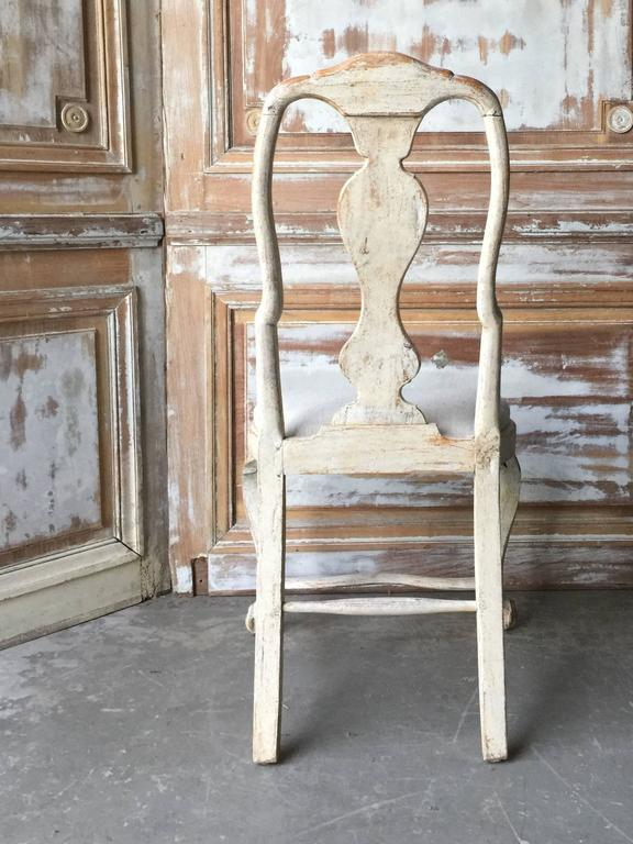 Rococo 18th Century Period Swedish Chair For Sale