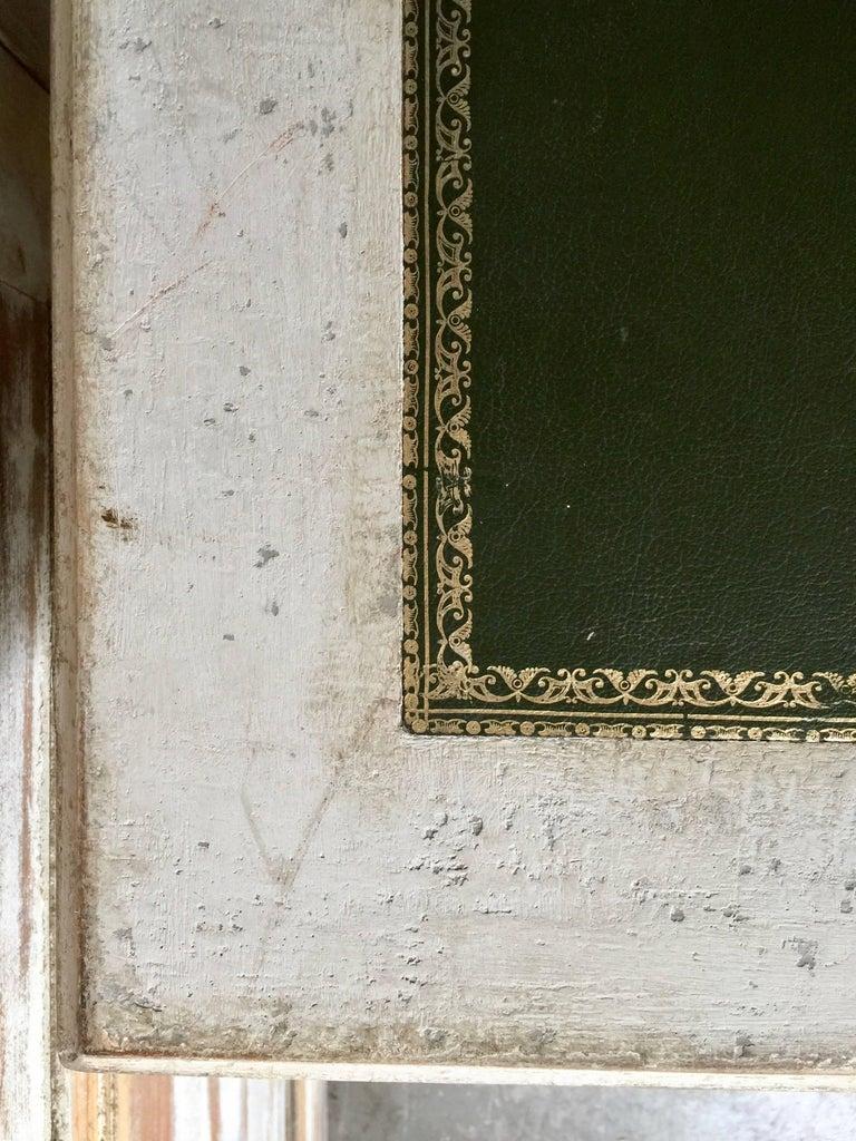 Leather 19th Century Painted Bureau Plat For Sale