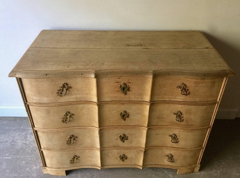 18th Century Danish Rococo Chest of Drawers In Good Condition For Sale In Charleston, SC