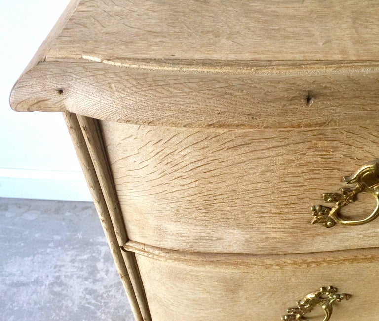 18th Century and Earlier 18th Century Danish Rococo Chest of Drawers For Sale