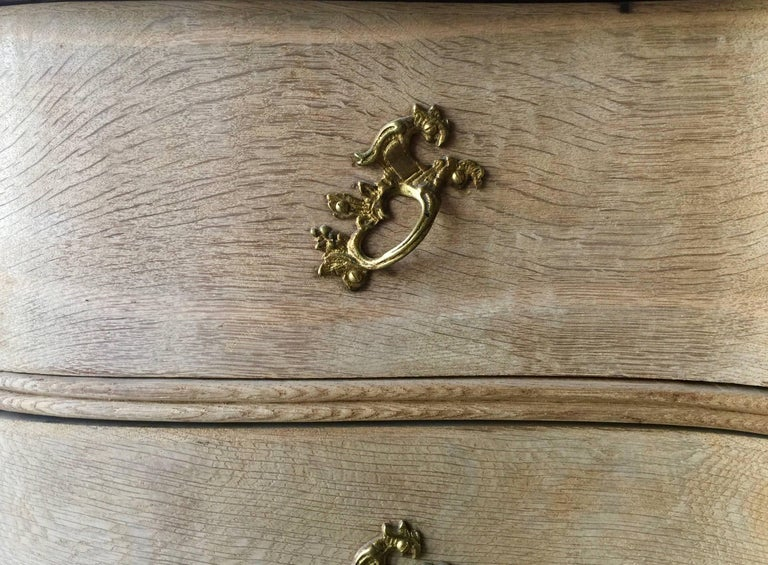 Bronze 18th Century Danish Rococo Chest of Drawers For Sale