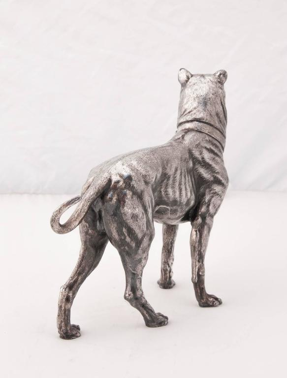 German WMF Silver Plated Figure of a Mastiff For Sale