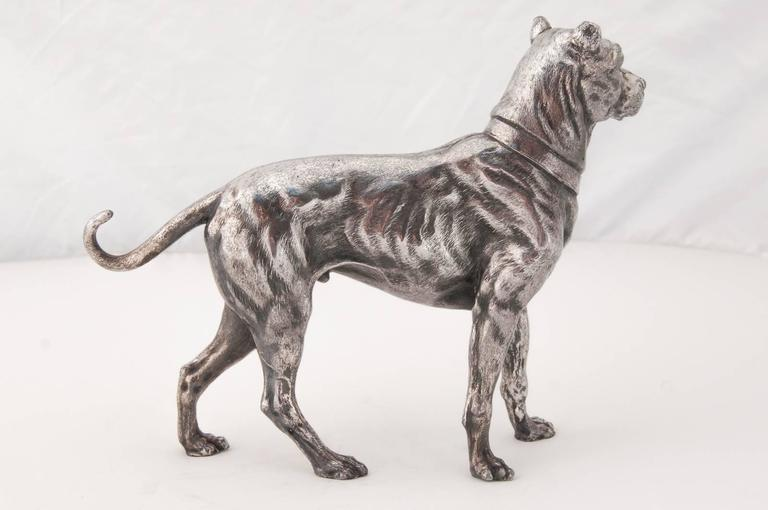 Cast WMF Silver Plated Figure of a Mastiff For Sale