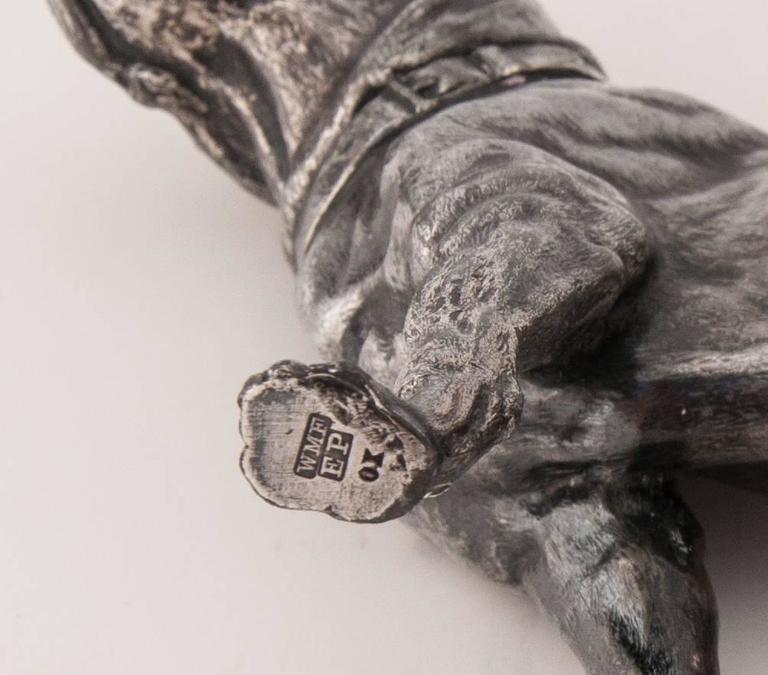 WMF Silver Plated Figure of a Mastiff 8