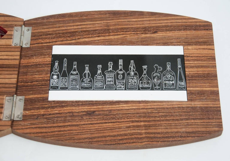 Mid-Century Barrel Shaped Bar Set by Rostfrei 6