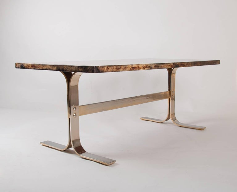 Aldo Tura midcentury Parchment Covered Low Table, Italy, circa 1960-1970 6