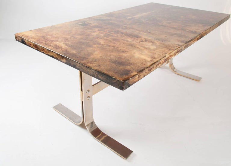 Aldo Tura midcentury Parchment Covered Low Table, Italy, circa 1960-1970 7
