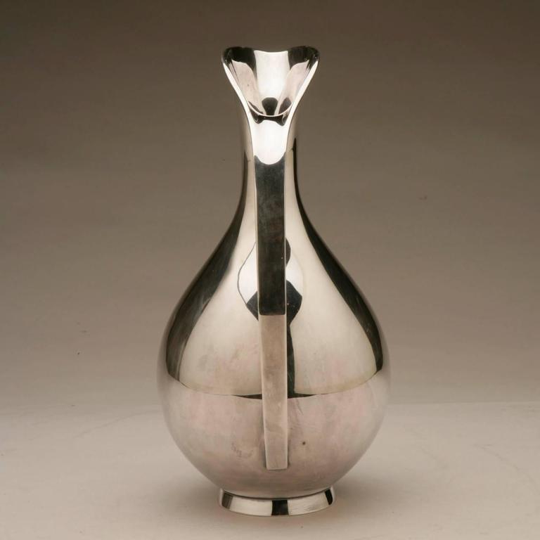 Danish Anton Michelsen Sterling Silver Pitcher by Kay Fisker For Sale