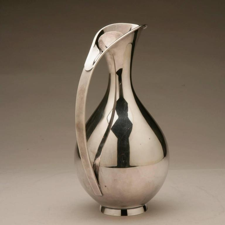 Anton Michelsen Sterling Silver Pitcher by Kay Fisker In Excellent Condition For Sale In San Francisco, CA