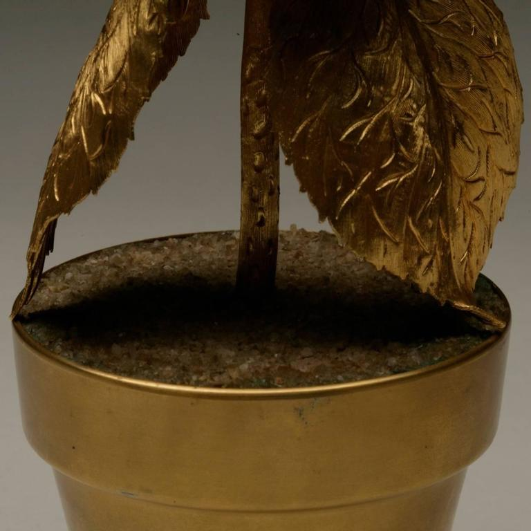 American Tiffany and Co. Sterling Silver Gilt Topiary For Sale