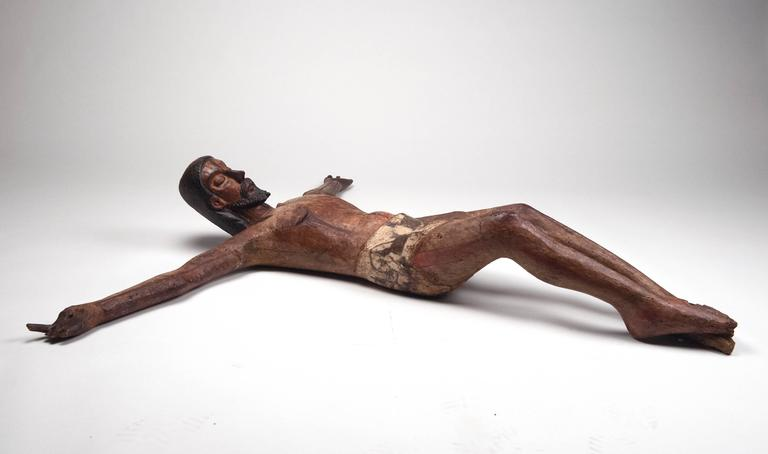 Spanish Colonial Carved Wooden Mexican Corpus For Sale