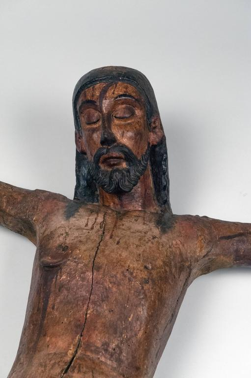 Carved Wooden Mexican Corpus For Sale 2
