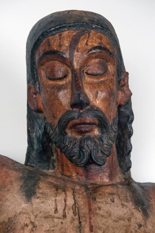 Carved Wooden Mexican Corpus For Sale 3