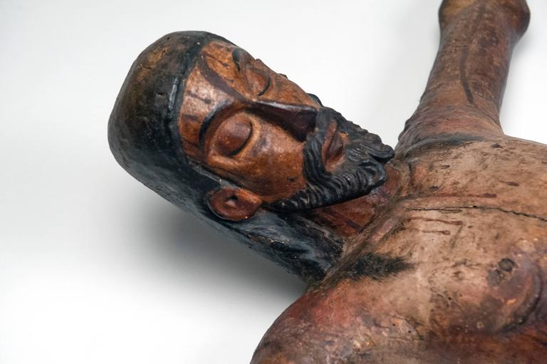 Carved Wooden Mexican Corpus For Sale 4