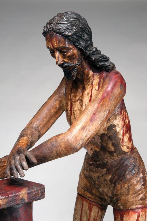 Spanish Colonial Christ at the Column 'Flagellation of Christ' For Sale