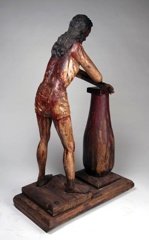 Carved Christ at the Column 'Flagellation of Christ' For Sale