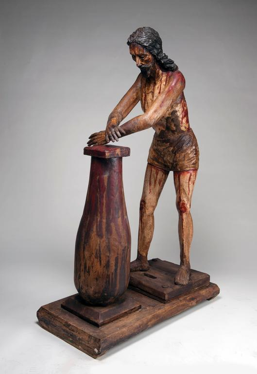 Mexican Christ at the Column 'Flagellation of Christ' For Sale