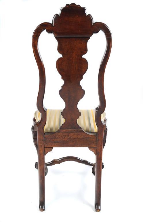 Portuguese Rococo Walnut Side Chair 3