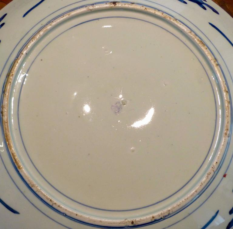 Porcelain Large Polychrome Japanese Imari Charger, 18th-19th Century For Sale