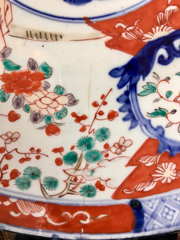 Large Polychrome Japanese Imari Charger, 18th-19th Century For Sale 3