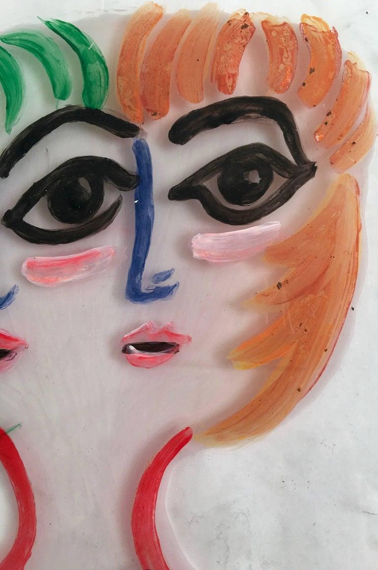 Gio Ponti Portrait on Perspex of