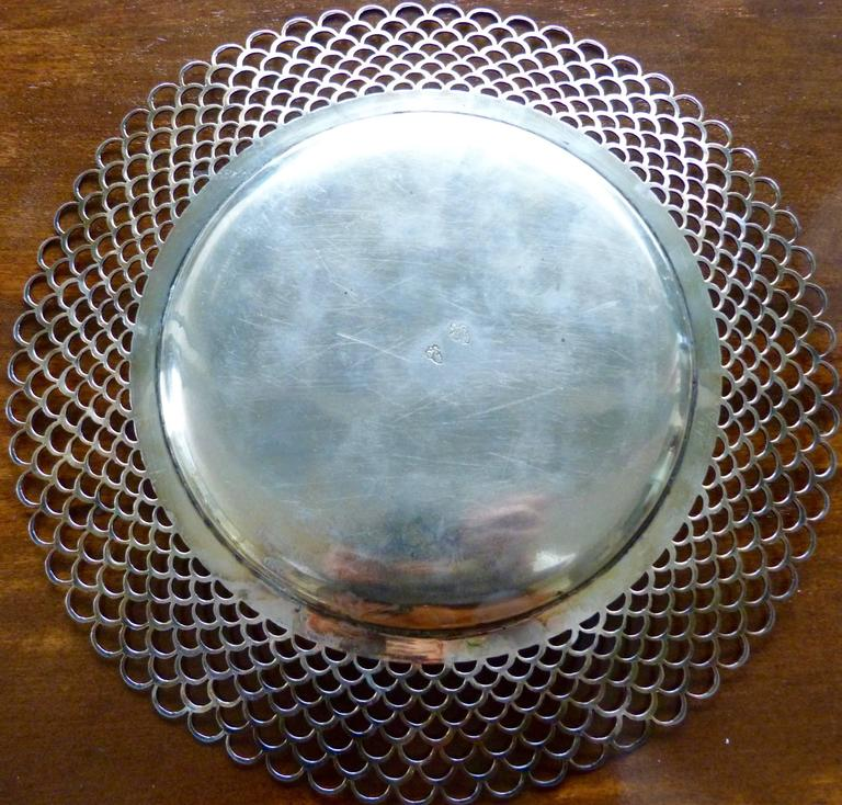 Rococo 18th Century Italian Turin Sterling Silver Platter For Sale