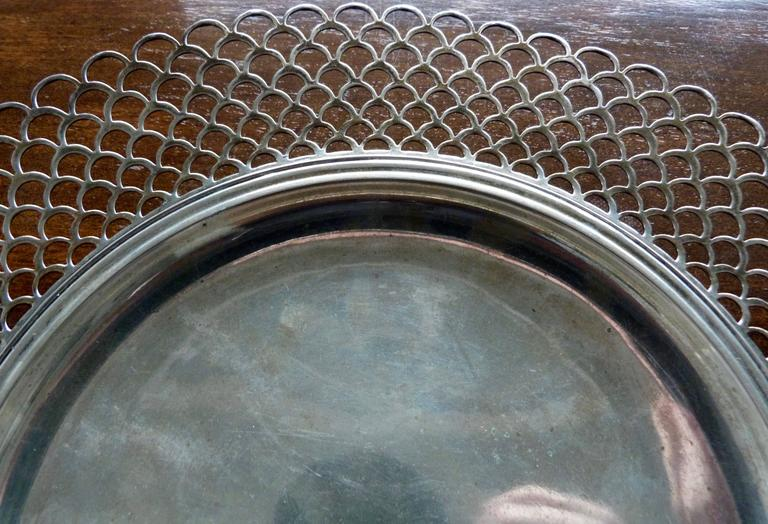 18th Century and Earlier 18th Century Italian Turin Sterling Silver Platter For Sale