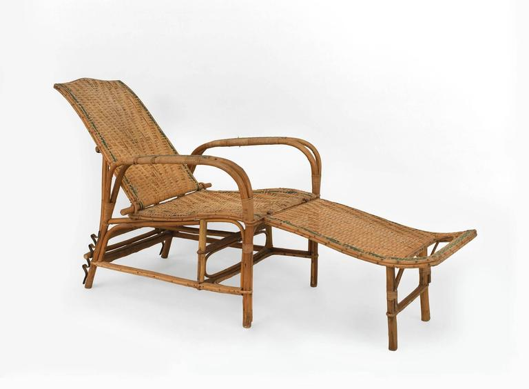 French art deco bentwood and wicker chaise for sale at 1stdibs for Chaise bentwood