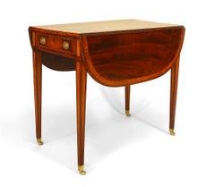 English Sheraton Style '18th Century' Mahogany Pembroke Table
