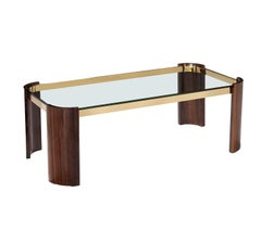 Contemporary Coffee Table with Glass Top