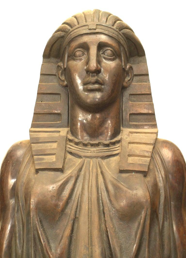 Set Of Four Monumental 19th Century Egyptian Revival