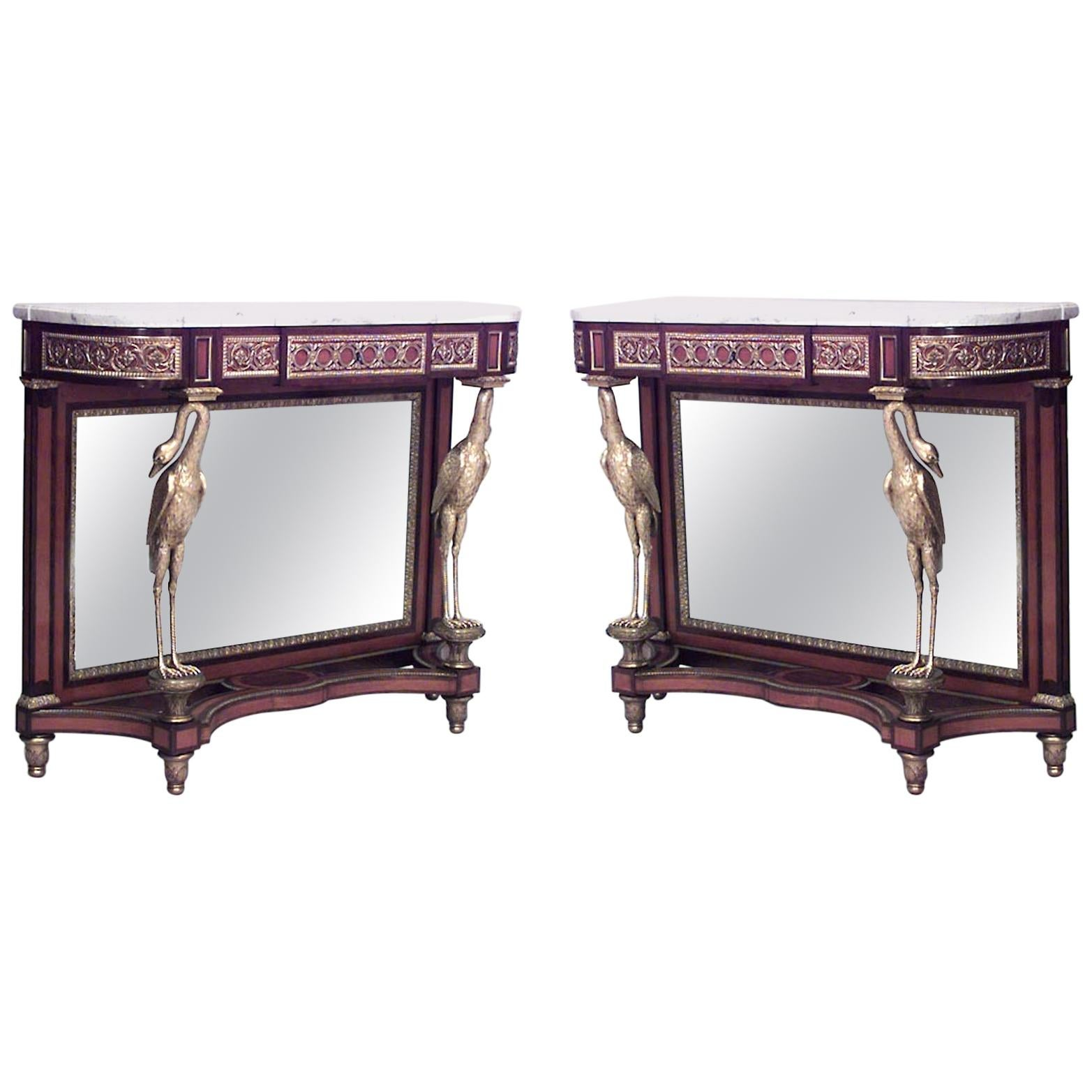 Pair Of French Louis XVI Style Console Tables U0027Saunieru0027